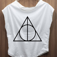 DEATHLY HALLOWS - Harry Porter T Shirt  Tee shirt Tank Top women shirt handmade
