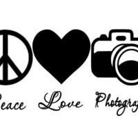 Peace Love Photography Car Decal by TheCraftyGeek86 on Etsy
