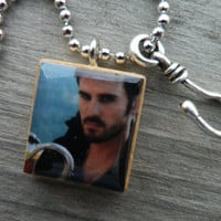 Once Upon A Time Captain Hook Scrabble Tile by shellybelly4evr