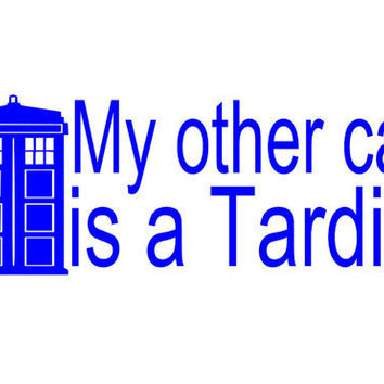 Doctor Who Tardis Car Decal by TheCraftyGeek86 on Etsy