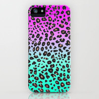 TEAL &amp; PINK LEOPARD  iPhone Case by nataliesales | Society6