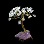 Miniature Bonsai Gem Tree With Clear Quartz Crystal and Amethyst