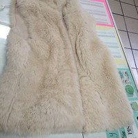 Nine West Faux Fur Vest Reversible