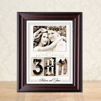 Frame Your Wedding Date  11x 14 Alphabet Photo by senterstudios