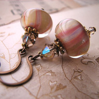 YUMMY pink vanilla earring drops by shadowjewels