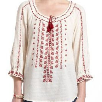Miriam Embroidered Peasant Blouse 96