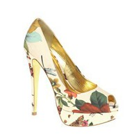 Ted Baker | Ted Baker Carlina High Platform Peep Toe Shoes at ASOS