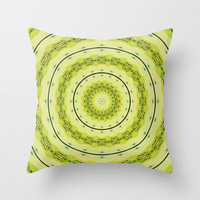 Green Day  Throw Pillow by Baggieoldboy