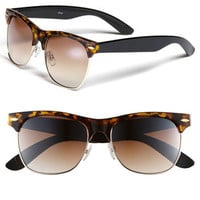 Icon Eyewear 'Gloria' 53mm Retro Half Wire Frame Sunglasses (Juniors)