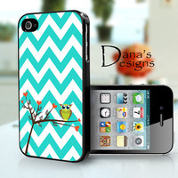 Owl on branch  iPhone 4S and iPhone 4 Case Cover by DanazDesigns