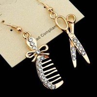 Scissor &amp; Comb Earrings from p.s. I Love You More Boutique