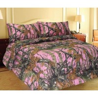 Amazon.com: Pink Woodland Camo Comforter Spread 1 Piece - Queen -: Home & Kitchen