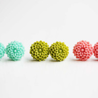 Flower Studs - Set of 3