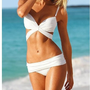 White Sexy Bikini Trikini Swimsuit