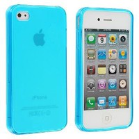 Amazon.com: Frost Light Blue TPU Rubber Skin Case Cover for Apple iPhone 4 4G 4S: Cell Phones &amp; Accessories