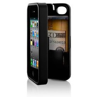 Amazon.com: Black, Case for iPhone 4/4S with built-in storage space for credit cards/ID/money, by EYN (Everything You Need): Cell Phones & Accessories