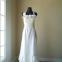 Simple Rustic Wedding Dress Shabby Chic Cotton by colorada on Etsy