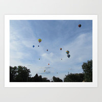 Findlay Ohio Balloon Fest Art Print by Gwynstone Originals