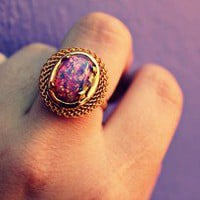 alapop — pink fire opal gold ring