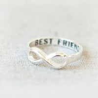 Best Friends Infinity Ring in silver