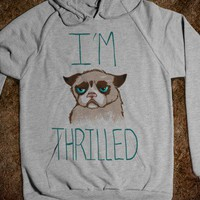 Grumpy Cat: I&#x27;m Thrilled (hoody) - Out There Tees