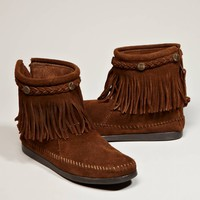 AEO Women's Minnetonka Hi Top Back Zip Boot