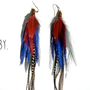 RUBY Extra Long Feather Earrings
