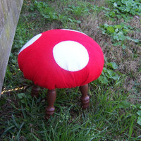 Red and White Handstiched TOADSTOOLS  can custom by BrooklynHilts on Etsy