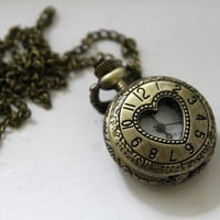 Jezie Jewelry — Heart Pocket Watch Necklace