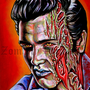 11x16&quot; PRINT of Elvis Presley Zombie portrait