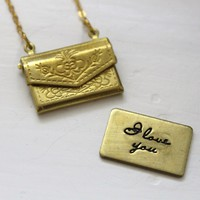 Jezie Jewelry  Love Letter Necklace