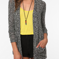 Urban Outfitters - Sparkle &amp; Fade Drape Pocket Cardigan