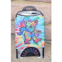 Grateful Dead Dancing Bear Tie Dye Can Huggie Cooler  NEW