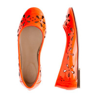 Girls' patent leather eyelet ballet flats - flats & moccasins - Girl's shoes - J.Crew