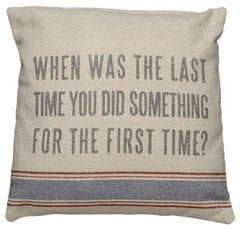 The First Time - Linen Pillow ? French Beach House Decor & Furniture