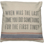 The First Time - Linen Pillow ? French Beach House Decor &amp; Furniture