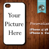 Personalized iPhone 4 and iPhone 5 Photo Case - Custom iPhone Case - iPhone Photo case - Picture iPhone case - MC109C