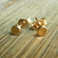 Gold Stud Earrings  Tiny Dots by punkybunny300 on Etsy