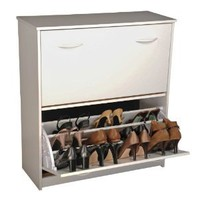 Amazon.com: Spartak Double Level Shoe Storage Cabinet Size-Color - 34 - White: Home & Kitchen