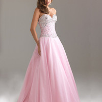 WowDresses  Amazing A-line Sweetheart Tulle Prom Dress with Lace up Back