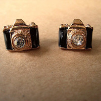 Camera Earrings Studs Retro Style by Bitsofbling on Etsy
