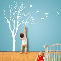 Wall Decals ELEGANT TREE with Birds Also Watch by ParisDecals