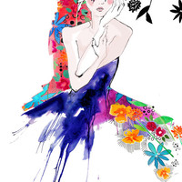 Captivate II // A3 Giclée print // FASHION ILLUSTRATION