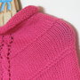 Knit poncho for girls, pink cape, pink poncho