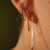 "5"" Sterling Silver Ear Threads"