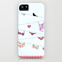 UNDERWEAR LOVE: LINGERIE iPhone Case by Nika  | Society6
