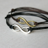 Infinity Bracelet / Infinity Anklet 28 colors to by greenduckweed