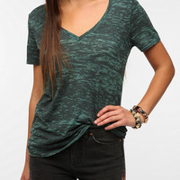 Urban Outfitters - BDG Sheer Burnout V-Neck Tee