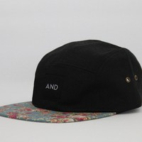 ANDCLOTHING — Floral Peak AND 5 Panel Snapback Hat