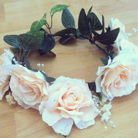 Lana Del Rey Inspired Silk Rose Floral Crown